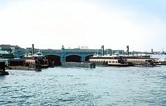 Erie-Lackawanna ferry dock from E-L ferry, Hoboken, NJ on September 3, 1965 (railfan 44) Tags: erie lackawanna