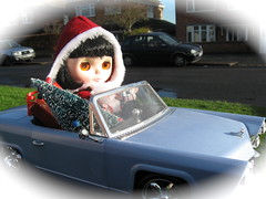 Driving Home for Christmas (Calendar girl 48 / grannygreen) Tags: christmas song lizzie blythedolls chrisrea drivinghomeforchristmas