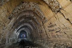 """La """"terreur branlette"""" (flallier) Tags: silhouette underground arches gypsum quarry arcs carrire terreur souterraine branlette roulage gypse consolidations"""