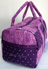 Bolsa Princesa Sofia (Zion Artes por Silvana Dias) Tags: patchwork bolsapatchwork princesasofia bolsaviagem zionartes