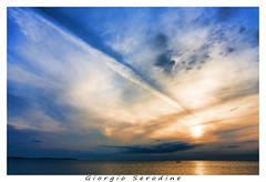 freccia nel cielo (Giorgio Serodine) Tags: barca tramonto nuvole mare colore sole colori istria riflesso orizzonte pirano