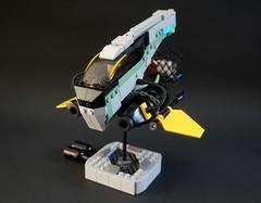 The Scavenger's Ship (aabbee 150) Tags: green sand ship lego space 150 spaceship scavenger moc foitsop aabbee aabbee150