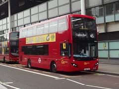 Go-Ahead London Central Volvo B5LH/MCV EvoSeti BU16OZD (MHV19) Midland Road London 15/10/16 (TheStanstedTrainspotter) Tags: london bus buses transport public publictransport goaheadgroup goahead goaheadlondoncentral londoncentral central volvo b5lh volvob5lh mcv evoseti mcvevoseti mhv19 bu16ozd stpancras stpancrasinternational 45 claphampark midlandroad unusual rare interesting new shiny