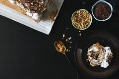 Meringue Roulade + Chocolate Shavings + Salty Sweet Peanuts (Lan | MoreStomachBlog) Tags: glutenfree dessert dairyfree lactosefree baked meringue eggs eggwhites chocolate peanuts organic