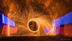 Steel Wool Experiment (Stormrider-UK) Tags: steelwool tunnel lightpainting paintingwithlight scotland