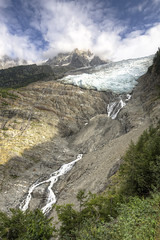 Glacier des Bossons [FR] (ta92310) Tags: travel hdr summer 2016 europe france chamonix 74 hautesavoie alpes alps trail randonne chemin glacier bossons waterfall icefield ice montblanc
