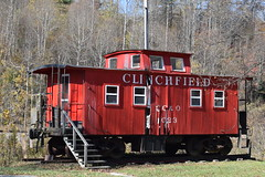 State of the Clinchfield (esywlkr) Tags: caboose clinchfield railroad red nc wnc northcarolinamitchell county