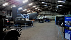 IMG_0956 (steveshaw67) Tags: aviation heritage lightening car hangar plane ww2 stripes stars
