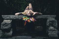 Aztec_3 (gabri.R) Tags: model moda modella fashion fashionportrait portrait ritratto ritrattomoda aztec azteca piume plumage makeup trucco strobist godoxad360 ruin rovine femalemodel female girl ragazza azteco aztecportrait