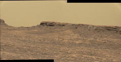 Color Landscape (sjrankin) Tags: 12october2016 edited nasa mars msl curiosity panorama butte sky haze bayerdecoded colorized output galecrater