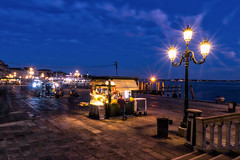 Promenade nights (Jim Nix / Nomadic Pursuits) Tags: jimnix nomadicpursuits travel europe italy venice venezia bluehour hdr aurorahdr2017 macphun lightroom sonya7ii sony 2470mm promenade riva degli schiavone