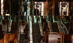 Spot the Selfie (PhotosbyDi) Tags: reflections mirror escalator arcade melbourne australiaoncollins selfie abstract nikond600 nikonf282470mmlens