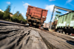 track (ppel) Tags: rail track metal rails metals line waggon move draft draw dortmund ruhrgebiet nrw ruhr germany nikon nikkor outside outdoor photography museum coal charcoal mine mining floor wagon locomotive lok 1855mm industrie industry wood perspective angle platform