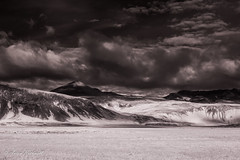 Hints of Light (JustAnotherCanonOperator (JACO)) Tags: autumn monochrome iceland infrared mountains bw moody canon550d light clouds texture