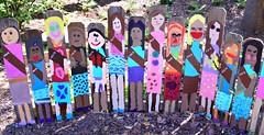School days (Krasivaya Liza) Tags: fence friday fall atl atlanta ga georgia botanical garden brownie troop children portraits