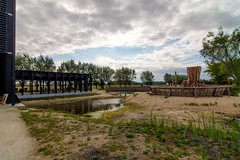 _DSC6783 (durr-architect) Tags: info centre zwin heartland belgium architecture cousse goris nature park wood structure border aday16 group area green trees