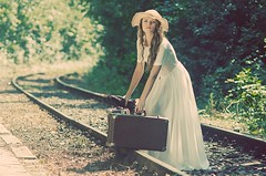 The journey (Cosmin_Munteanu) Tags: moment model shooting fashion train tracks girl woman