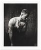 P8 - Polaroid (WF portraits) Tags: cze model male portrait studio polaroid 600se blackandwhite bw nude naked hairy blonde shaven chest fujifilm fp3000b