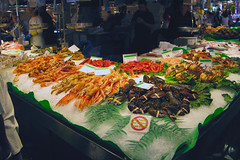 Shellfish Boqueria Barcelona.jpg (rkimk54) Tags: barcelona boqueria seafood market seafoodmarket food spain places