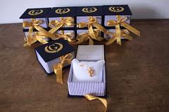 Lembrancinha para chegada do Gael: Caixinhas com bordado na tampa, com almofada e medalha de anjo (Mimos Art - Para mames e noivas) Tags: lembrancinhamaternidade lembrancinhanascimento caixasbordadas azulmarinhoedourado azulebege urso anjo brancoedourado