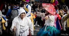 Granny's enjoying it (gunman47) Tags: asia asian insadong korea korean rok republic seoul south dance elderly enjoying festival gil granny hanbok people performance performer photography street  southkorea
