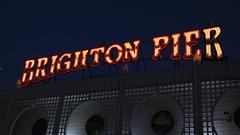 Brighton Pier in lights (Carol Spurway) Tags: brighton pier thebrightonmarinepalaceandpier palacepier brightonpier brightonpalacepier