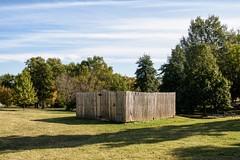 Progress #1 (brev99) Tags: sigma1770os d7100 colorefex fence tulsagardencenter trees