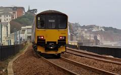 150124 Paignton to Exmouth 2F06 at Dawlish (train_photos) Tags: dawlish firstgreatwestern 150124 exmouth