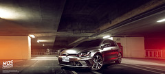 VW Golf GTI Clubsport (Mos Lin) Tags: vw golf gti clubsport golfgticlubsport car mosphotos parkinggarage red volkswagen night