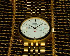 Golden time (elluckyphoto) Tags: color gold golden watches time watch timepiece sample quartz seiko chronograph