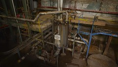 Probably shouldn't drink that. (Mike.Geiger.ca (Myke)) Tags: ontario canada industry windmill industrial factory tank ottawa pipes tube tubes pipe steam boiler papermill domtar ebeddy condenser zibi pm10 condensate paperpress chaudierefalls pm11 ottawamill workershistorymuseum