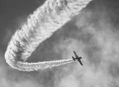 SK16 Harvard (Antti Tassberg) Tags: blackandwhite bw monochrome airplane flying helsinki harvard airshow malmi lentokone lentonäytös sk16
