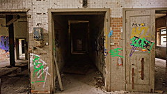 dark empty corridor (Hybrid Lycans Unknown Headquarter) Tags: wallpaper building abandoned industry halloween dark poster lost photography weird photo scary mood foto fotografie place shot grafiti sinister empty fear ruin gang picture corridor atmosphere eerie creepy spooky ruine ruina forgotten horror rotten bild graphiti hybrid uncanny industria industrie atmosphre angst atmospheric korridor dunkel stimmung verlassen flur obscure ort zerfallen horreur gruselig vergessen siniestro verfallen unheimlich lycan terrifiant horripilante leerstehend    atmosphrisch  hybridlycan
