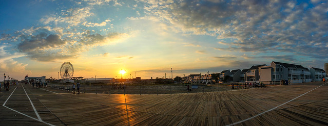 Coucher de soleil sur le Boardwalk Sunset - Ocean City