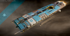 MAERSK HIGHLINER (Pierre E Fieschi) Tags: art ship lego pierre transport vessel container spaceship concept carrier spacecraft microspace 2015 maersk highliner fieschi microscale pierree shiptember