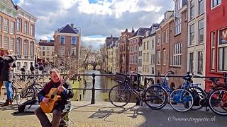 Busker, Maartensbrug, Utrecht, Netherlands - 3355