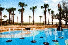 Kissimmee's Lakefront Park at Lake Tohopekaliga (hz536n/George Thomas) Tags: park trees sky fall water october florida canon5d kissimmee lakefront 2015 lakefrontpark laketohopekaliga ef24105mmf4lisusm cs5 pixelbender