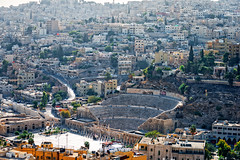 A veiw of Amman Hills and the Roman Amphitheatre, Jordan (CamelKW) Tags: amman hills jordan romanamphitheatre jordan2015