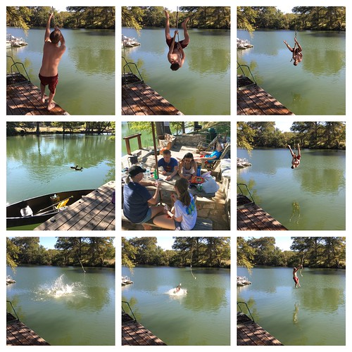 Guadalupe River Rope Swing Jumping by Wesley Fryer, on Flickr