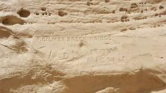 Wonderful old inscriptions at Inscription Rock