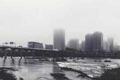 Foggy Day RVA (Joey Wharton) Tags: city bridge fog river virginia cityscape richmond va rva