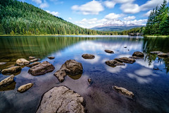 Mount Hood and Trillium Lake (JasonianPhotography) Tags: reflection mountains sky leebigstopper oregon trilliumlake clouds mounthood governmentcamp unitedstates us