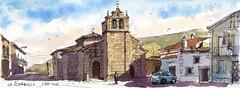 La Aldehuela. Ávila. (P.Barahona) Tags: rural iglesia urbano pluma acuarela urbansketcher pbarahona