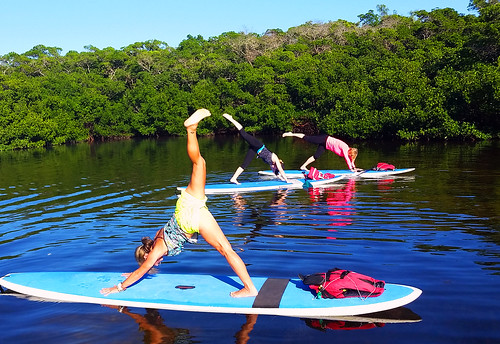 11_30_15 Paddleboard Yoga in Lido Mangroves FL 10