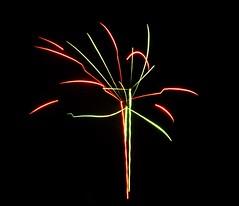 Dancing. (LumosStar684) Tags: red sky black colour green blackbackground night dark colours fireworks firework celebration colourful bonfirenight