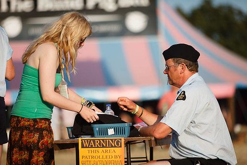 Customs and Excess - Glastonbury festival -immigration