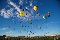 Albuquerque Balloon Fiesta mass ascension (frwakeham) Tags: simply superb