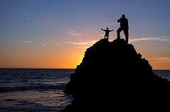 Silhouette at Rodeo Beach (R Lund photography) Tags: sunset marin california rodeobeach silhouette