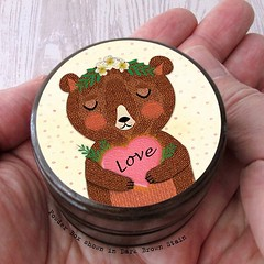New illustrated mama #bear box in my #etsy shop... #Bear #mother #motherandson #motherandbaby #motheranddaughters #motherslove #floralheadpiece #floral #brownbear #polkadotted #ringholder #ringbox #pillbox #ringbearer #mothernature #love #etsyshop # (waltersilvausa) Tags: saltbox saltcellar floral medicationstorage toothfairybox illustratedbear woodenbox ringbearerpillowalternative tyingtheknot ringbox inspirationalgift giftware illustration motherandchild etsy smalljewelrybox mamabear instagramapp square squareformat iphoneography