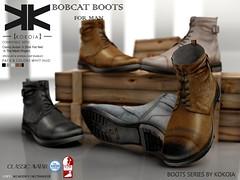 Bobcat :: Boots Male :: 5 Colors ({kokoia}) Tags: boots kokoia shoes slink secondlfie sl casual classic vintage tmp themeshproject mesh man men